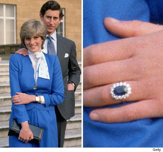 Pierścionek zaręczynowy z szafirem i diamentami Księżnej Diany