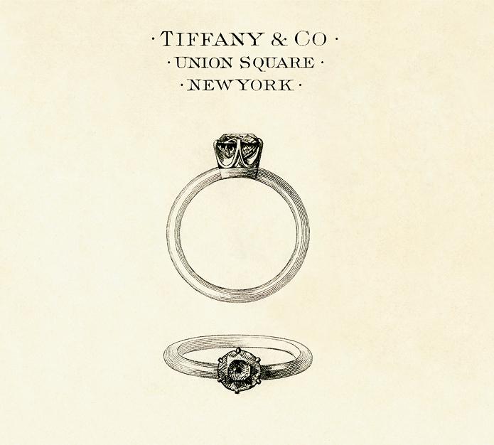 Pierścionek Tiffany zaprezentowany w 1886 roku.