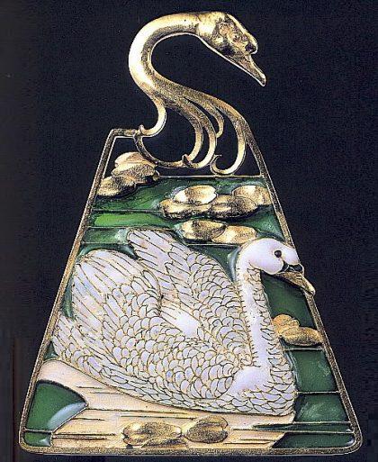 Swan-brooch
